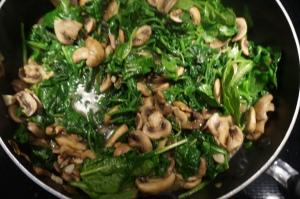 mushroom and spinach