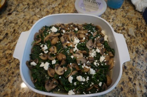 mushrooms and spinach